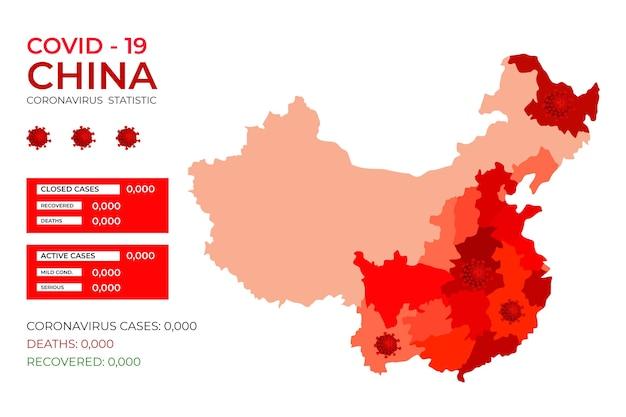 Chiny Covid-19 Zainfekowane Infekcją Wirusową Darmowych Wektorów