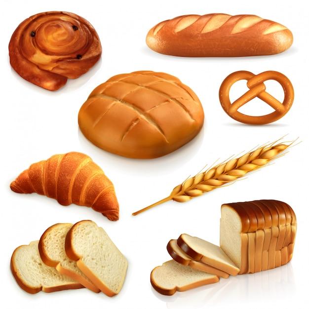 Chleb, Zestaw Ikon Premium Wektorów
