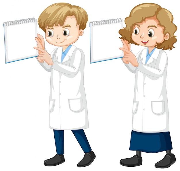 Chłopiec I Dziewczyna W Nauki Togi Pozyci Na Bielu Darmowych Wektorów