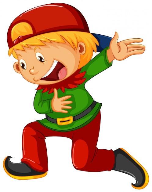 Chłopiec z kostiumem elfa Darmowych Wektorów