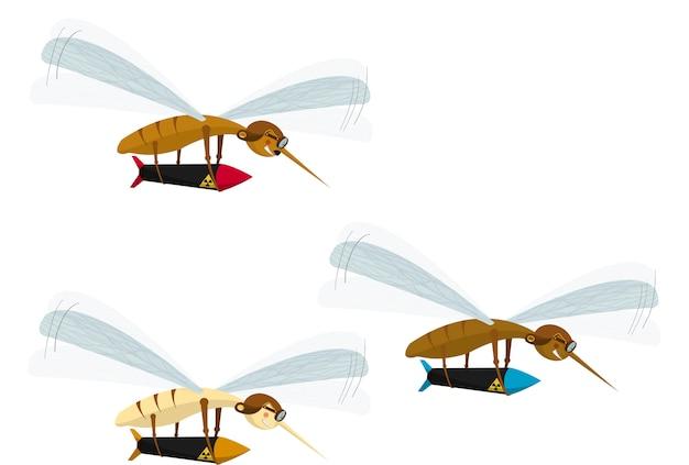 Choroby Przenoszone Przez Komary Premium Wektorów
