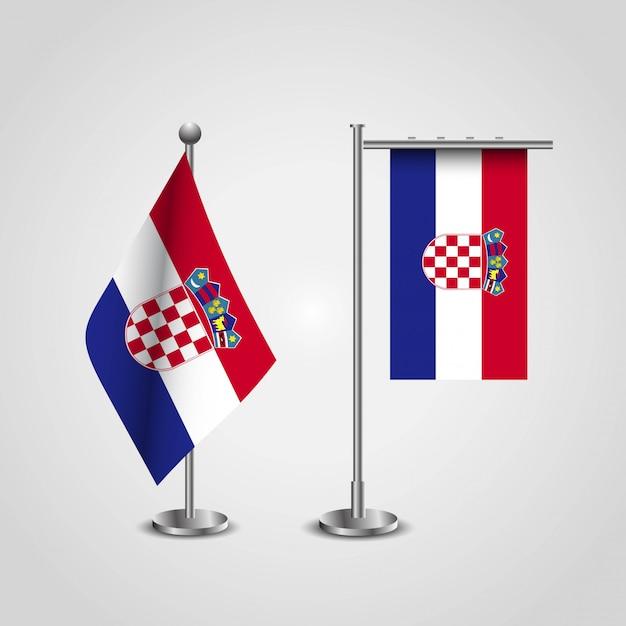 Chorwacja flaga wektor Premium Wektorów