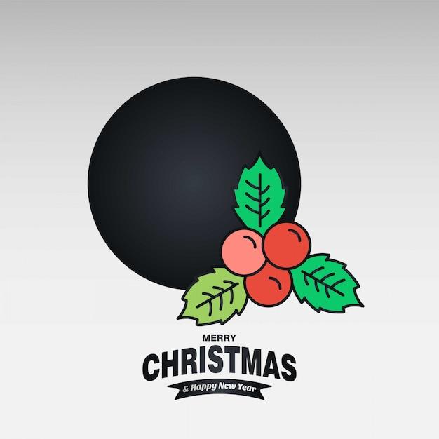 Christmas cherry card Darmowych Wektorów