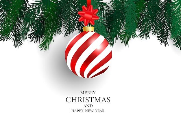 Christmas party plakat i szczęśliwego nowego roku tle. Premium Wektorów