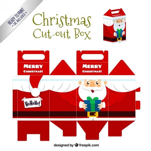 Christmas Santa Claus wyciąć okno Darmowych Wektorów