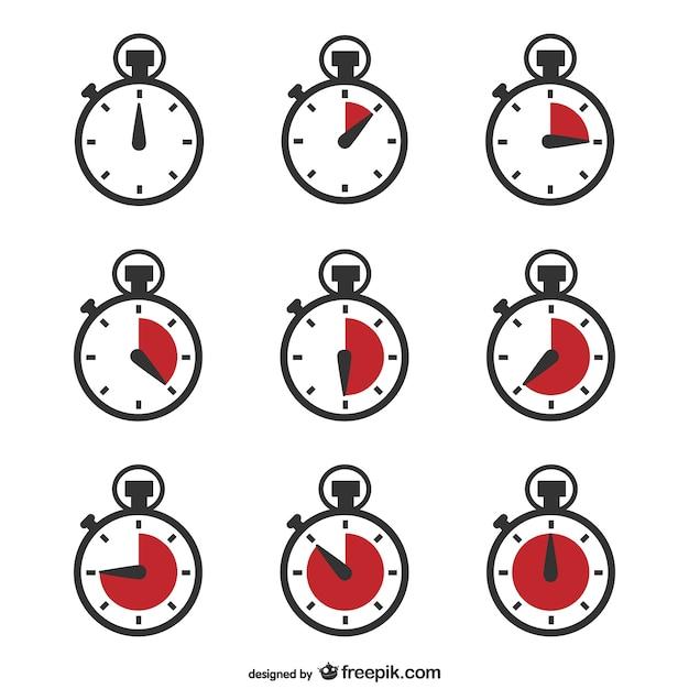 Chronometr Zegar Wektor Premium Wektorów