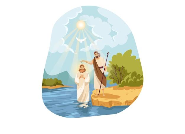 Chrześcijaństwo, Religia, Koncepcja Biblijna Premium Wektorów