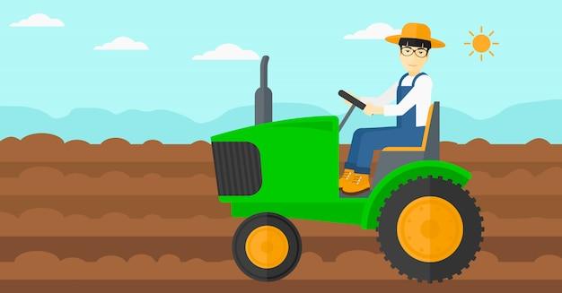 Ciągnik rolniczy. Premium Wektorów