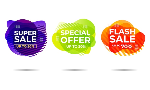 Ciekły Sprzedaż Transparent Tło Premium Wektorów