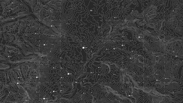 Ciemna Mapa Topograficzna Darmowych Wektorów