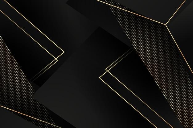 Ciemne tło warstwy papieru ze złotymi detalami Darmowych Wektorów