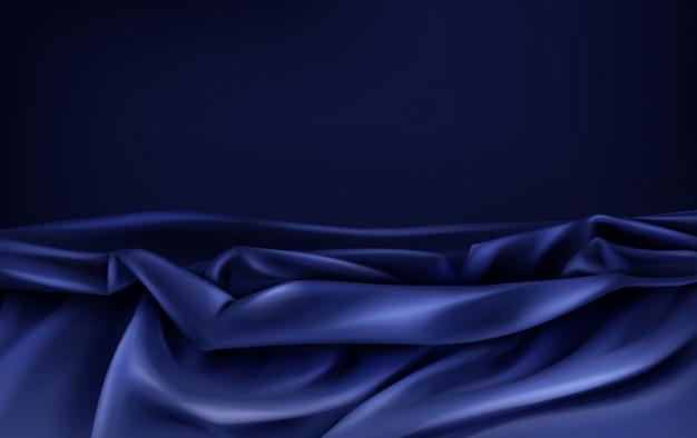 Ciemnoniebieska Satynowa Tkanina Darmowych Wektorów