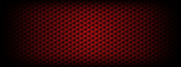 Ciemny czerwony wzór z tłem sześciokąty Premium Wektorów