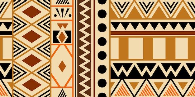Ciepłe Ręcznie Rysowane Plemiennych Wzór Z Etnicznych Symboli Abstrakcyjnych Premium Wektorów
