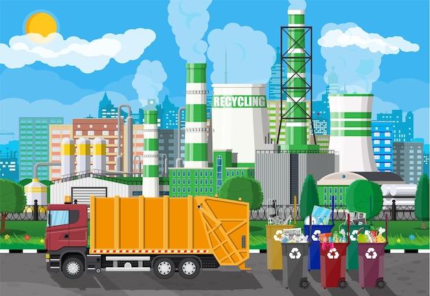 Ciężarówka Do Montażu, Transportu śmieci. Premium Wektorów