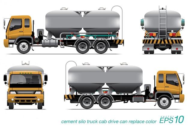 Ciężarówka silos Premium Wektorów