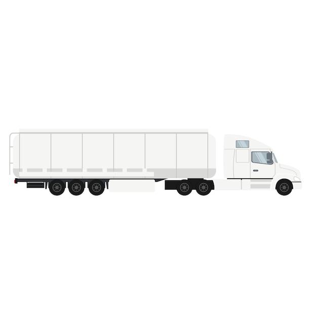 Ciężarówka z przyczepą kontenerową z cysterną. Premium Wektorów