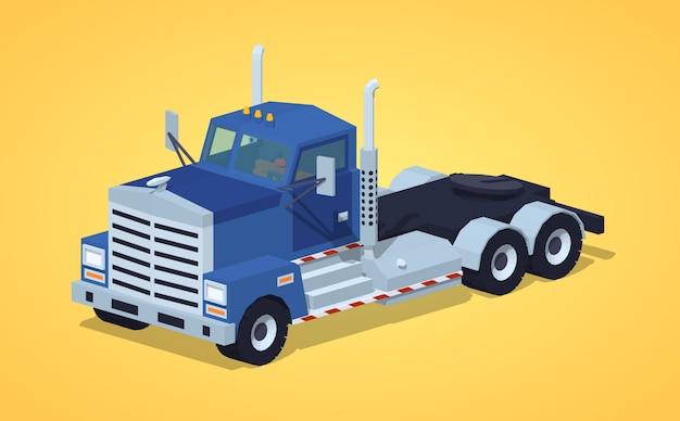 Ciężka Ciężarówka Izometryczna 3d Lowpoly Premium Wektorów