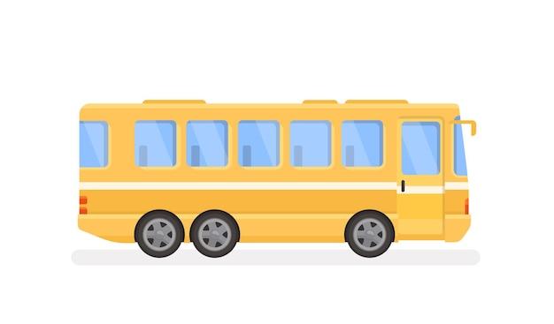 City Bus Ilustracja W Nowoczesnym Stylu Płaski Premium Wektorów