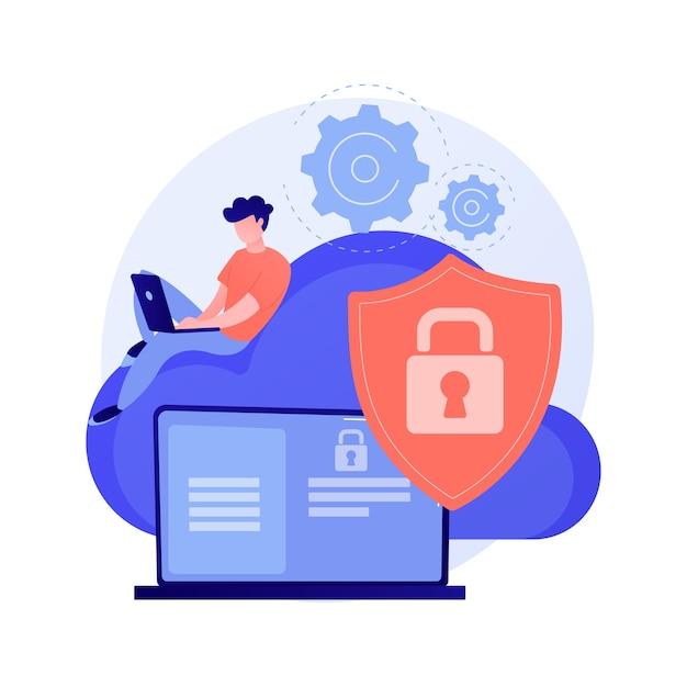 Cloud Computing Ilustracja Koncepcja Abstrakcyjna Bezpieczeństwa Darmowych Wektorów