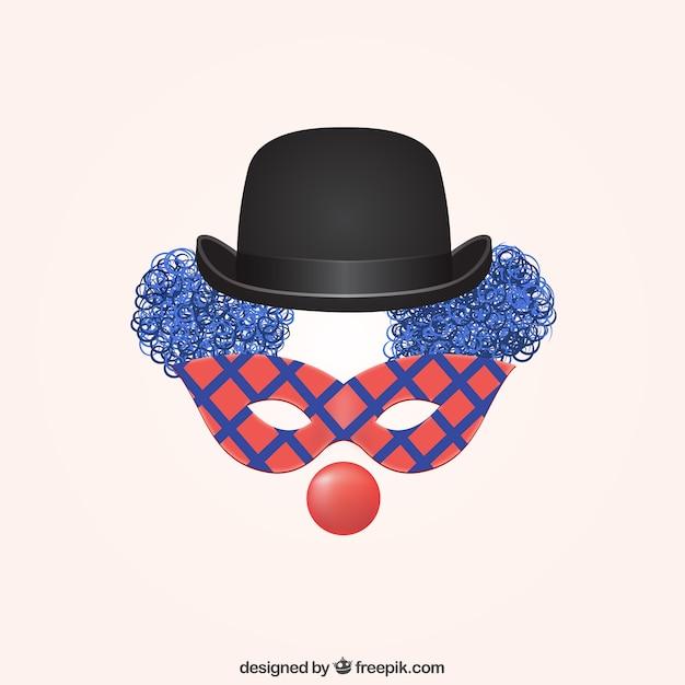 Clown Z Karnawałowe Maski Premium Wektorów