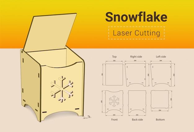 Cnc Laserowe Urządzenie Tnące. Cięcie Laserowe. Nie Wymaga Kleju. Do Sklejki O Grubości 3 Mm. Rozmiar 195x154x184 Mm. Premium Wektorów