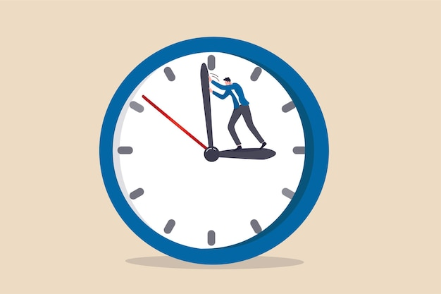 Cofnij Czas, Aby Zmienić Lub Naprawić Błąd Premium Wektorów
