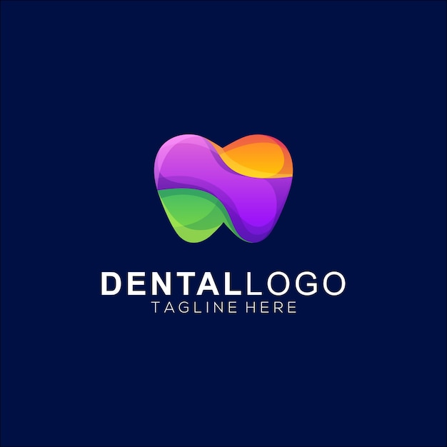 Colorfull Dental Premium Logo Wektor Premium Wektorów