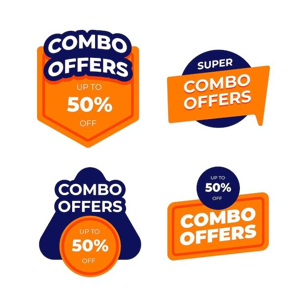 Combo Oferuje Etykiety Premium Wektorów