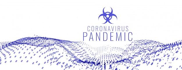 Coronavirus Covid-19 Globalny Sztandar W Stylu Pandemii Medycznej Darmowych Wektorów