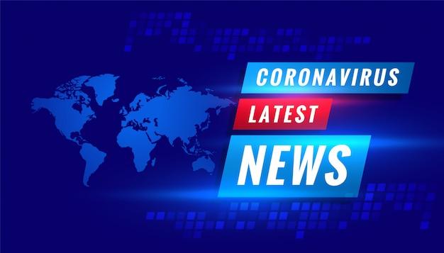 Coronavirus Covid-19 Najnowsze Wiadomości Transmitowane W Tle Koncepcji Darmowych Wektorów