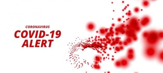 Coronavirus Covid-19 Projekt Pandemii Z Ostrzeżeniem O Wybuchu Pandemii Darmowych Wektorów
