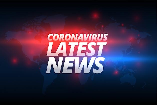 Corovavirus Covid-19 Najnowsze Wiadomości Baner Koncepcja Darmowych Wektorów