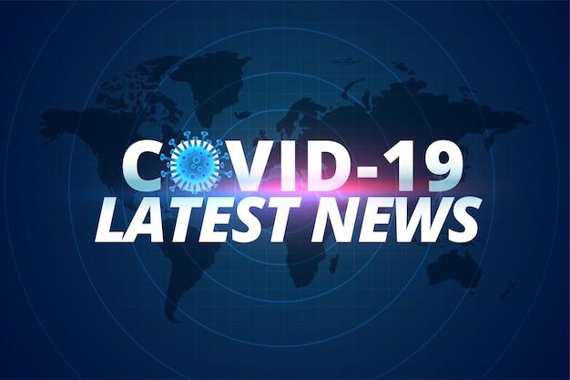 Corovavirus Covid-19 Najnowsze Wiadomości I Aktualizacje W Tle Darmowych Wektorów