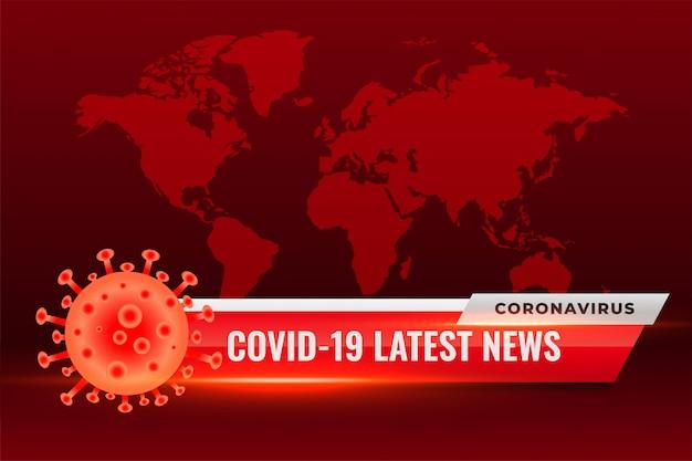 Corovavirus Covid19 Najnowsze Wiadomości Aktualizuje Czerwone Tło Darmowych Wektorów