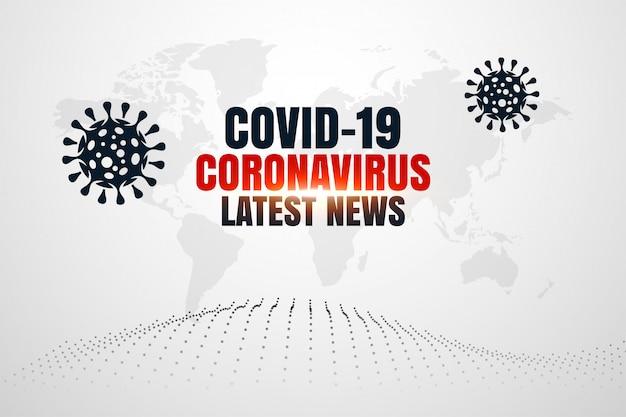 Corovavirus Covid19 Najnowsze Wiadomości I Aktualizacje W Tle Darmowych Wektorów