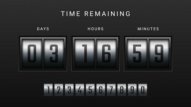Countdown Clock Counter Timer Premium Wektorów