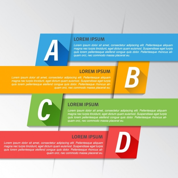 Cuatro opciones geométricas para una infografía Darmowych Wektorów