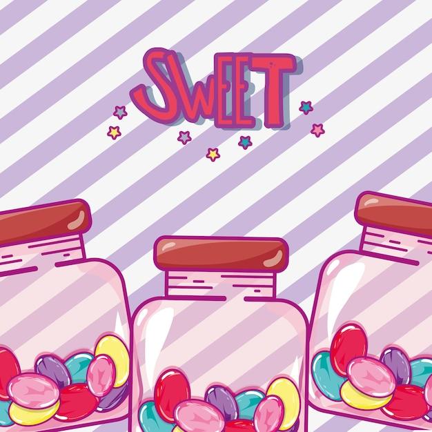 Cukierki I Desery Premium Wektorów
