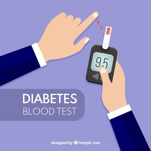Cukrzyca Testuje Tło Krwi Darmowych Wektorów