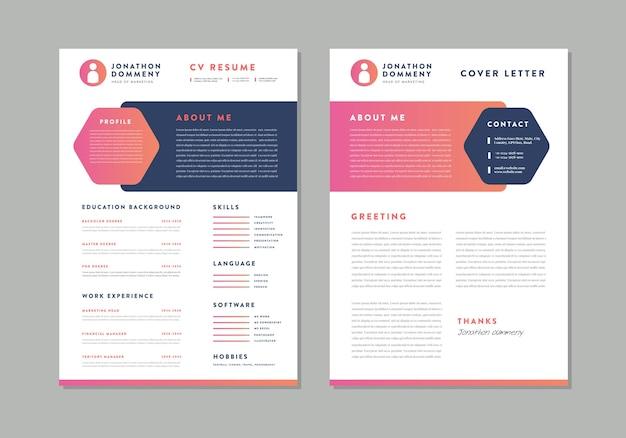 Curriculum Vitae Cv Wznowić Projekt Szablonu Premium Wektorów