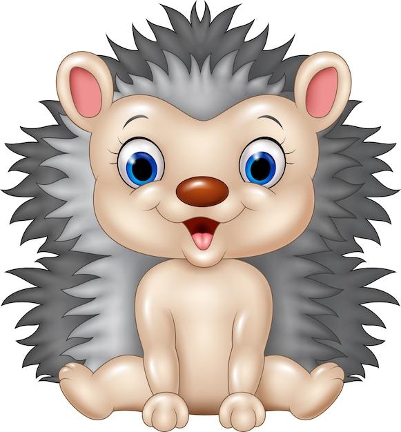 Cute baby hedgehog Premium Wektorów