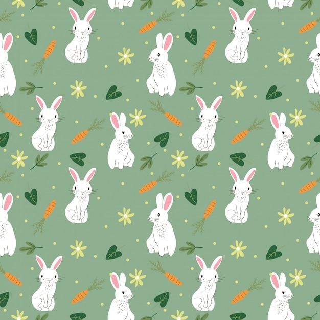Cute Bunny Szwu Premium Wektorów