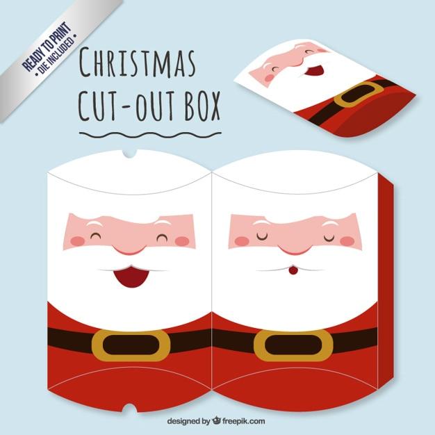 Cute Santa Claus wyciąć okno Darmowych Wektorów