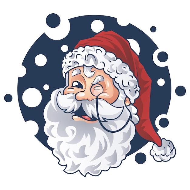 Cute santa face vector design Premium Wektorów
