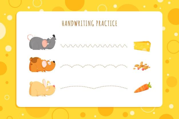 Ćwiczenia Pisma Ręcznego Dla Dzieci Darmowych Wektorów