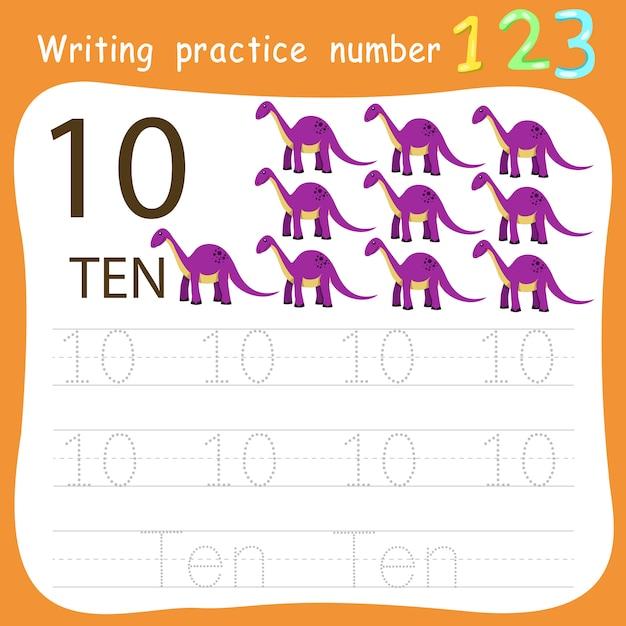 Ćwiczenie ćwiczenie Pisania Nr 10 Premium Wektorów