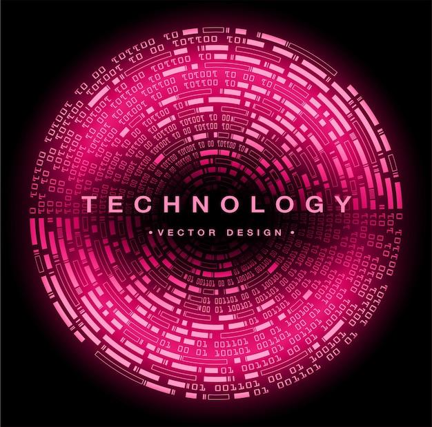Cyber Obwód Binarny Koncepcja Technologii Przyszłości Premium Wektorów