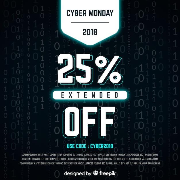 Cyber poniedziałek binarny tło Darmowych Wektorów