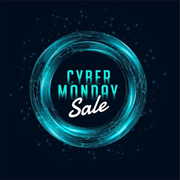 Cyber Poniedziałek Sprzedaż Szablon Transparent Na Zakupy Online Darmowych Wektorów
